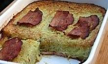 Babka ziemniaczana Składniki: 2 kg ziemniaków 2 cebule 3 ząbki czosnku 2 jajka około 2 - 3 łyżek mąki pszennej kawałek boczku wędzonego sól, pieprz, gałka muszkatołowa - do smak...