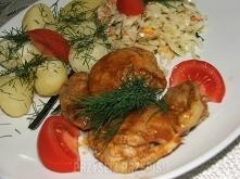 Smażone mięso z udek kurczaka  Składniki ok 0,6 kg mięsa z udek kurczaka (bez...