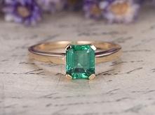 8x6mm Natural emerald Cut E...