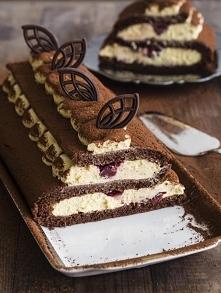 Biszkopt czekoladowy: 4 jaj...