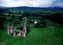 Opuszczona rezydencja w pobliżu Kilgarvan, hrabstwo Kerry, Irlandia