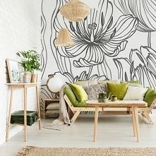 Kwiatowe dekoracje doskonale sprawdzają się w salonie! (fototapeta: Myloview)