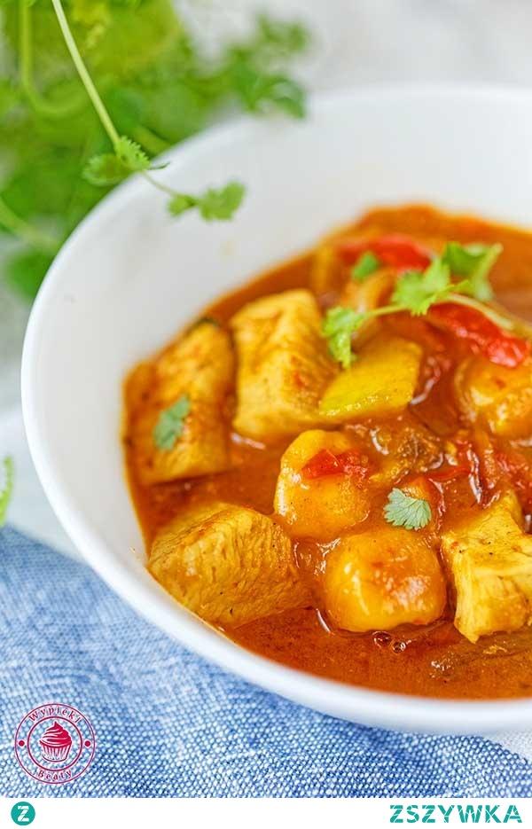 Curry z mango i kurczakiem - Wypieki Beaty