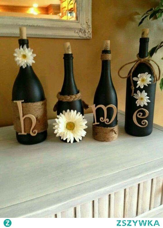 Pomysł na butelki po winie