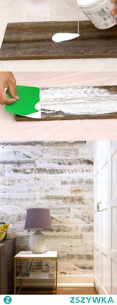 DIY postarzanie drewna ŚCIANA