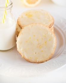kruche ciastka podwójnie cytrynowe