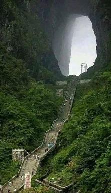 Brama do nieba - Chiny, góra Tianmen.