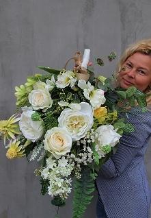 wiązanki nagrobne z pracowni tendom.pl - sztuczne kwiaty wysokiej jakości