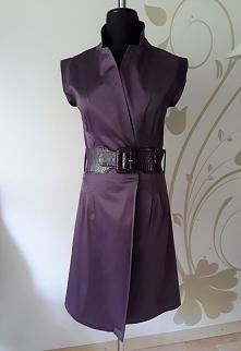 Sukienka fioletowa atłasowa...