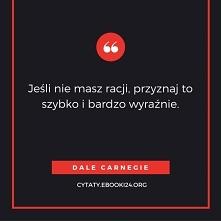 Dale Carnegie cytat o racji