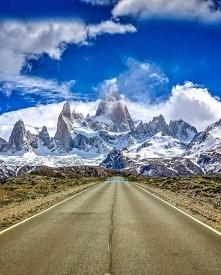 Szczyt Fitz Roy w Patagonii.