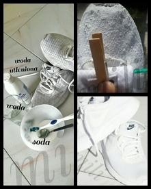 SPOSÓB na brudne białe buty bez wrzucania ich do pralki który stosuję od lat-NIE ZAWIÓDŁ mnie nigdy!●3 łyżeczki Sody ●3 łyżeczki Wody utlenionej ●2 łyżeczki wody ●szczoteczka. M...