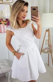 Bicotone 2141-04 sukienka ecru Elegancka sukienka, w której będziesz wyglądać...