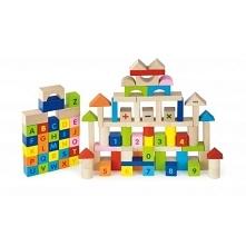 Klocki dla dzieci od 24 miesiąca życia cenionego producenta zabawek drewnianych Viga wykonane z bezpiecznych ekologicznych materiałów pozwolą na kreatywną, ciekawą zabawę w domu...
