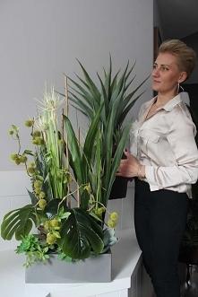 dekoracje ze sztucznych roslin z pracowni tendom