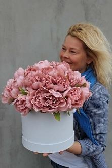 Flower box z piwoniami - tendom