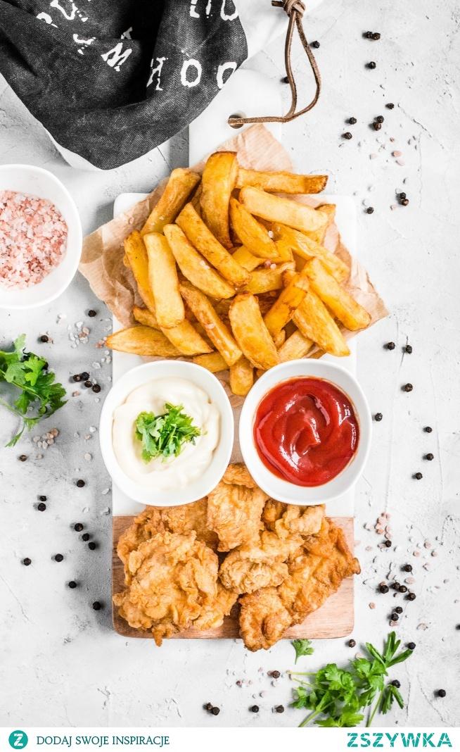 Najlepsze domowe frytki i stripsy z kurczaka