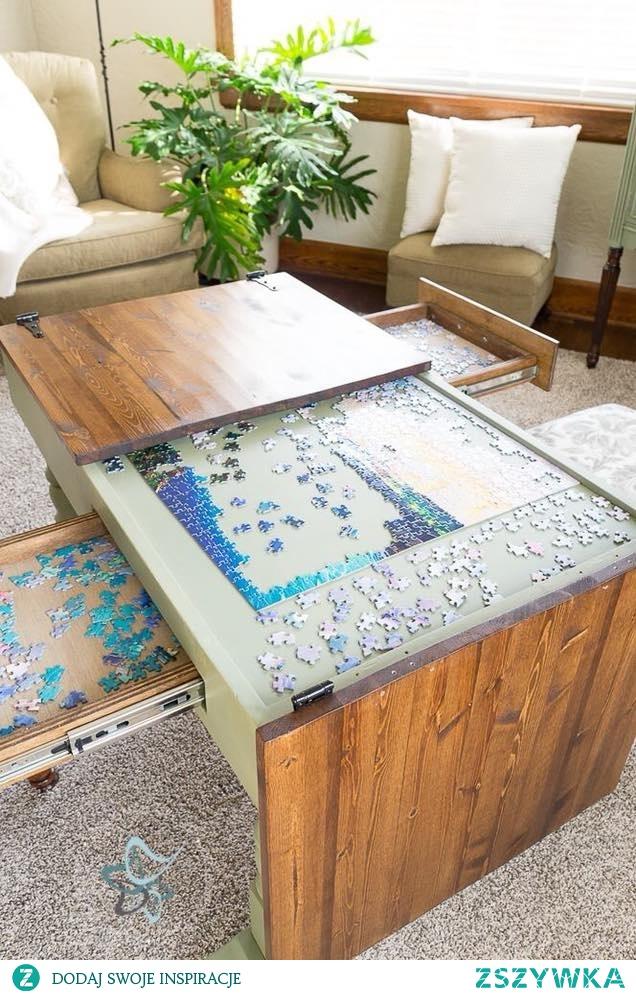 stół dla miłośników puzzli :)