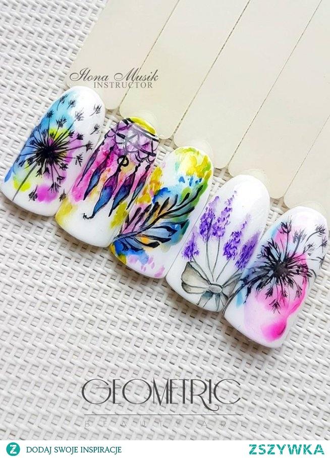 Fantazyjne i kolorowe akwarelowe zdobienia :)