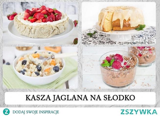 Kasza jaglana na słodko - ciasto jaglane budyń jaglany jaglanka z owocami