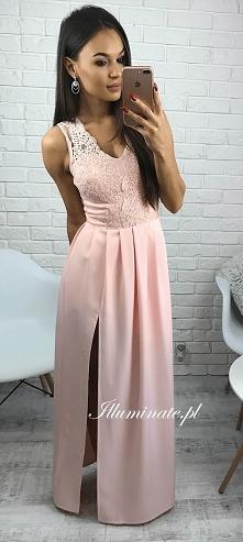 Długa morelowa sukienka z kolekcji Illuminate <3 Idealna dla druhny <3