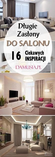 Długie Zasłony do Salonu: TOP 16 Inspiracji