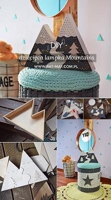 DIY dziecięca lampka Mountains