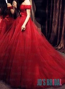 JW16190 burbundy szary off ramię proste suknia ślubna suknia ślubna tiulu