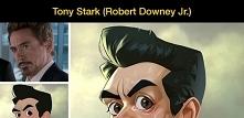 Bohaterowie filmów jako postacie z kreskówek