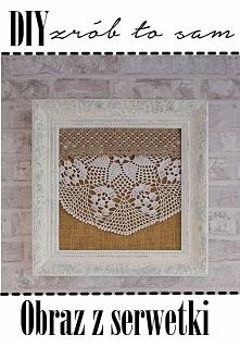 DIY obraz z serwetki