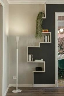 Niby to tylko dwa kolory ścian i półka na książki a efekt super