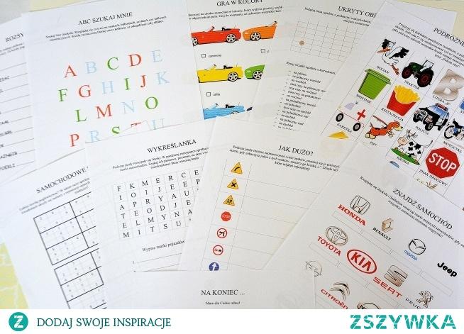 Książka z zadaniami idealna do wydrukowania na dalekie i bliższe podróże z dziećmi. Szukaj na mamawdomu.pl