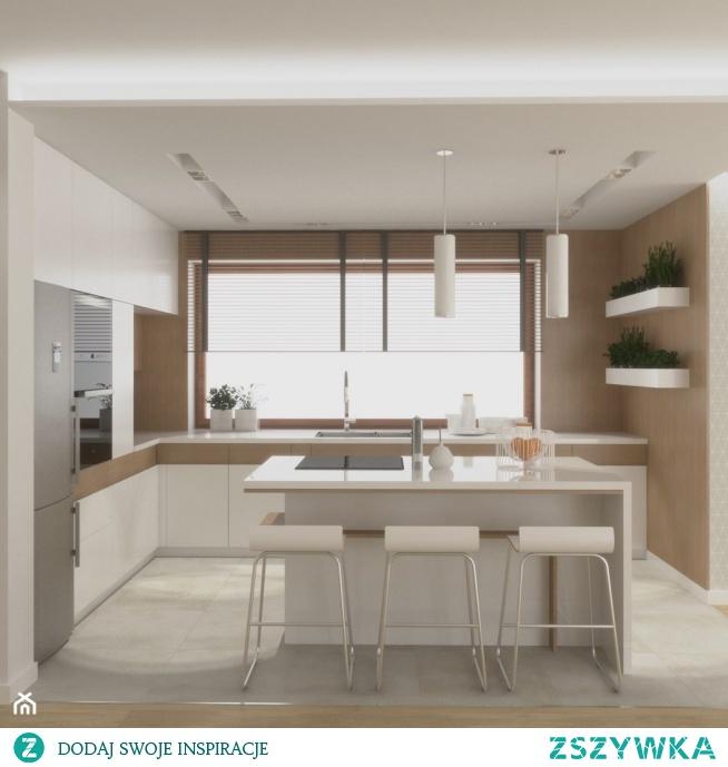 Propozycja nowoczesnej kuchni od VINSO Projektowanie Wnętrz. Co o niej sądzicie? Po więcej inspiracji zapraszamy na nasz profil na Homebook.pl oraz fanpage na facebook'u