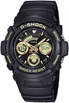Casio AW-591GBX-1A9ER sportowy zegarek dla mężczyzn z wytrzymałego tworzywa w kolorze czarno złotym.  Stylowy i wielofunkcyjny sportowy dodatek. Aby przenieść się do sklepu klik...