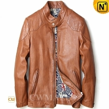 CWMALLS® Adelaide Calfskin Leather Bomber Jacket CW808051[Father's Day G...