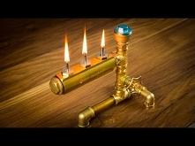 DIY Steampunk Industrial Pipe Oil Lamp  Świetny pomysł na lampkę naftową.