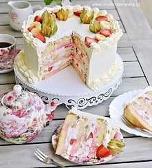 Tort truskawkowo – bananowy...