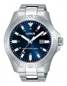 Lorus RH917HX9  kwarcowy zegarek męski wykonany ze stali na bransolecie z niebieską tarczą. Wodoodporność 100 metrów, co daje możliwość pływania z zegarkiem. Aby przenieść się d...