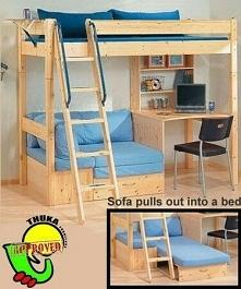 Świetne rozwiązanie do pokoju dziecka. Miejsce na przenocowanie kolegi lub koleżanki.