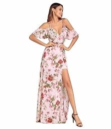 Długie kwieciste sukienki s...