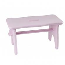 Różowy stołek idealnie spra...