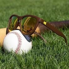 Prześliczne, brązowe okulary przeciwsłoneczne z żółtymi szkłami. Szkła lustrz...