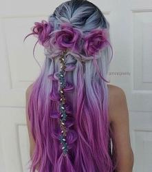 gray pink hair