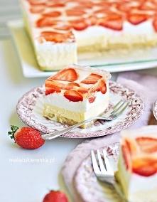 """Ciasto """"Słodka Cytrynka"""" z Truskawkami Bez Pieczenia. Przepis po kliknięciu w..."""