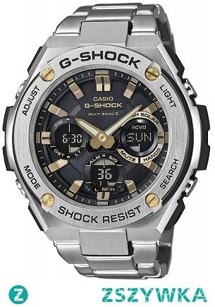 Casio GST-W110D-1A9ER zegarek G-shock w wersji ze stali szlachetnej na wygodnej bransolecie. Odporny również na wstrząsy, uderzenia wyposażony w solarny panel oraz automatycznie ustawiany czas za pomocą fal radiowych. Aby przenieść się do sklepu kliknij w zdjęcie :)