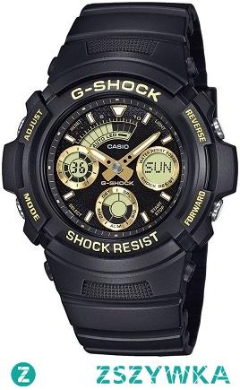Casio AW-591GBX-1A9ER sportowy zegarek dla mężczyzn z wytrzymałego tworzywa w kolorze czarno złotym.  Stylowy i wielofunkcyjny sportowy dodatek. Aby przenieść się do sklepu kliknij w zdjęcie :)