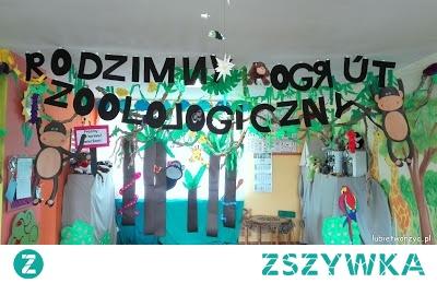 ZOO - dekoracje z okazji Dnia Mamy i Taty w przedszkolu :)