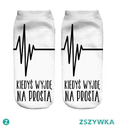 Skarpetki stopki z napisami - więcej na swagshoponline.pl