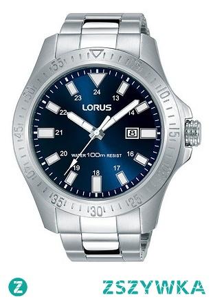 Lorus RH917HX9  kwarcowy zegarek męski wykonany ze stali na bransolecie z niebieską tarczą. Wodoodporność 100 metrów, co daje możliwość pływania z zegarkiem. Aby przenieść się do sklepu kliknij w zdjęcie :)