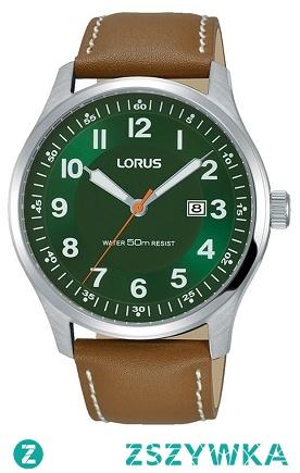 Lorus RH945HX9 męski zegarek wykonany ze stali na skórzanym, brązowym pasku. Wyróżnia go zielony cyferblat  z datownikiem. Aby przenieść się do sklepu kliknij w zdjęcie :)